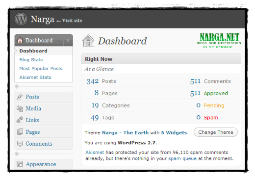 Phiên bản Wordpress 2.7