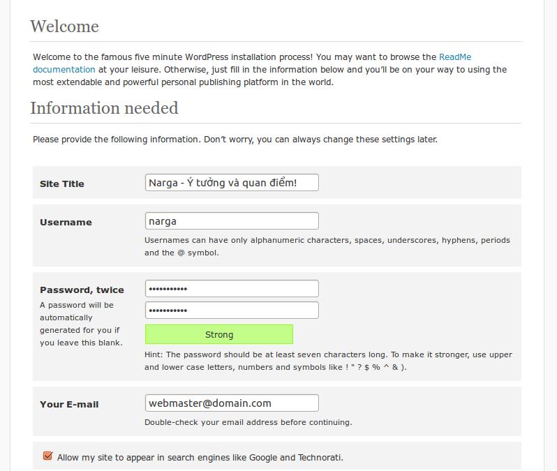 Cài đặt WordPress trên Ubuntu
