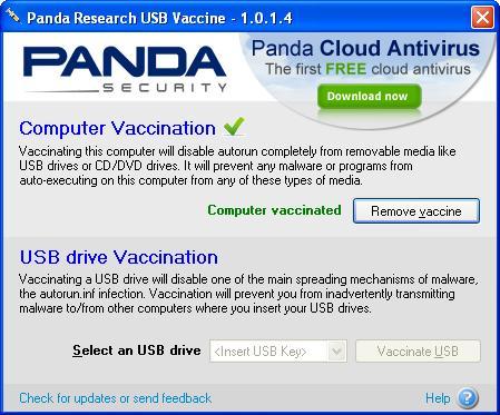 Panda USB Vaccine v1.0.1.4