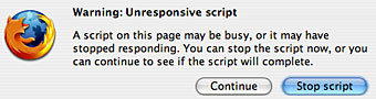 "Put off Firefox 1.5's ""Unresponsive script"" dialogue"