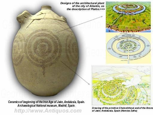 Các cổ vật gốm này có niên đại khoảng 3.000 năm trước. Chúng được tìm thấy tại nhiều nơi thuộc Tây Ban Nha như Carambolo, Seville, và Luzaga, Guadalajara.