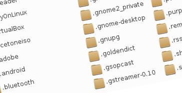 Danh sách tập tin theo bảng chữ cái của Nautilus trên ArchLinux